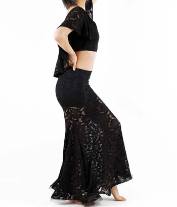 ベリーダンス衣装,ワンピース,上質のレース仕立て人気の衣装品番SD-018
