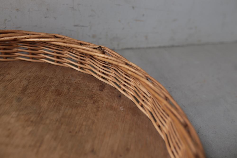 Rattan tray (round) A<p>籐のトレイ (ラウンド) A</p>