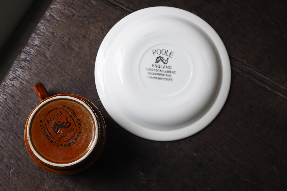 Poole Pottery cup&saucer (Chestnut)<p>プール・ポタリー カップ&ソーサー (チェストナット)</p>