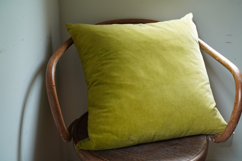 Hand-dyed velvet cushion 50 / Spinus<p>キルステンヘクターマン 手染めベルベットクッション</p>