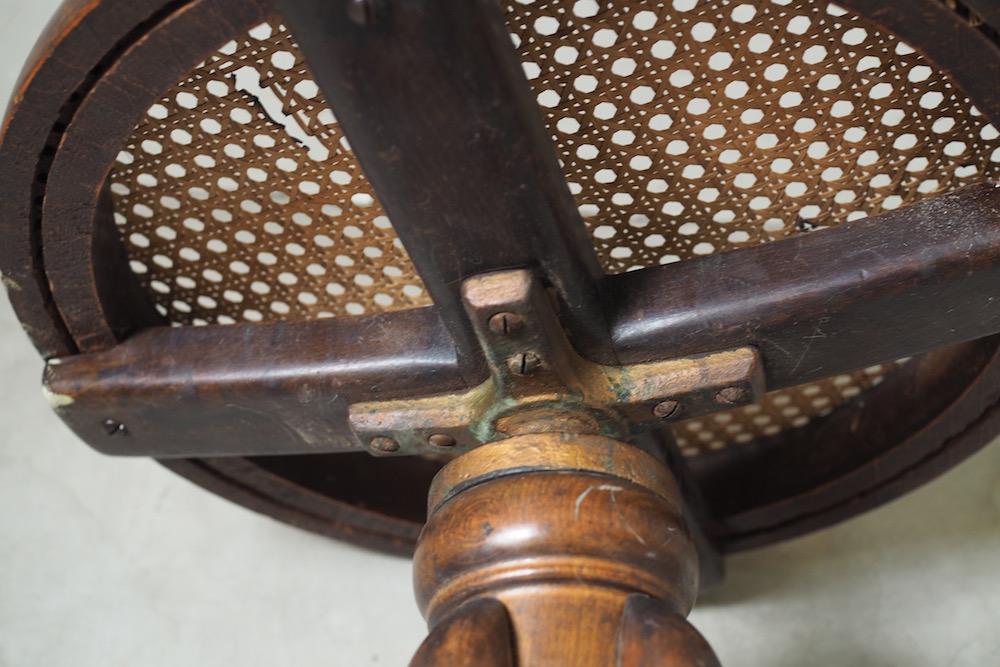 【HOLD】Bentwood Rattan Piano Stool<p>ベントウッド ラタン ピアノスツール</p>