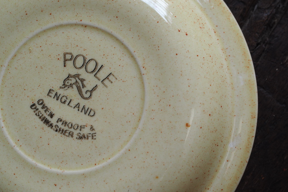 Poole Pottery cup&saucer (Thislewood)<p>プール・ポタリー カップ&ソーサー (シスルウッド)</p>