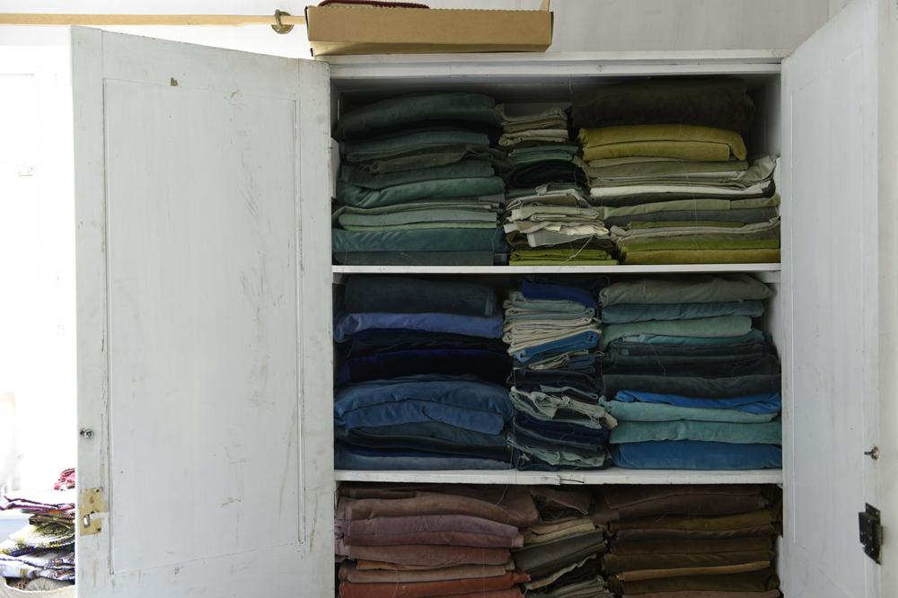 Hand-dyed velvet cushion cover 45 / soft lilac<p>キルステンヘクターマン 手染めベルベットクッション(カバーのみ)</p>