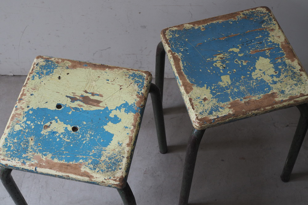 【HOLD】Vintage kids stool D<p>ヴィンテージキッズスツール D</p>