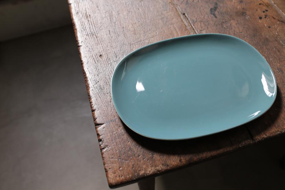 Poole pottery big oval plate (Cameo blue moon)<P>プールポタリー ビッグオーバルプレート(カメオブルームーン)</p>