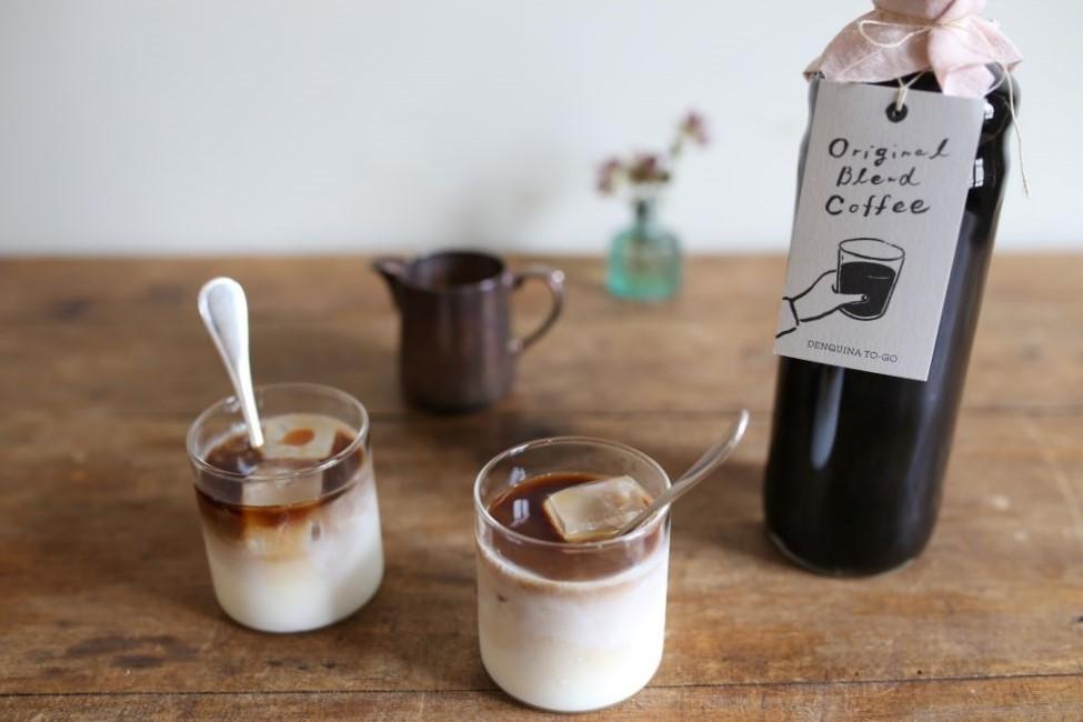 DENQUINA Original non-caffeine cafe au lait base <p>無糖ノンカフェインカフェオレベース600ml</p>