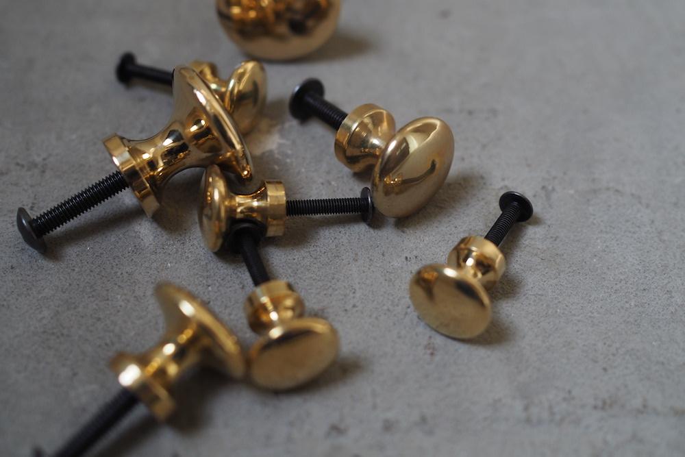Brass knob D<p>真鍮つまみ D</p>