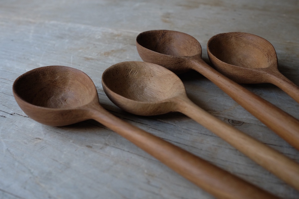 Almond Handle Cooking Spoon<p>クッキングスプーン(アーモンド)</p>