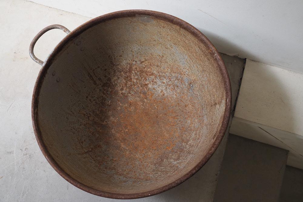 Tinplate Bucket (bowl)<p>ブリキ製バケツ(ボウル型)</p>