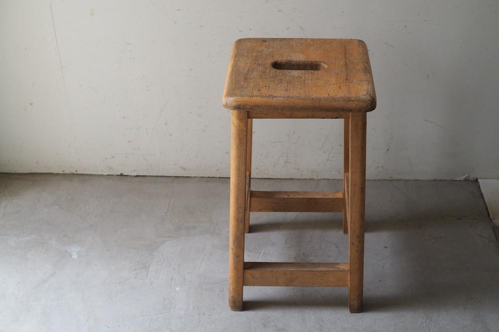 Vintage square stool B<p>ヴィンテージ スクエアスツール B</p>