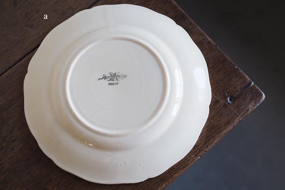 Sarreguemines Vintage plate (white)<p>サルグミンヌ ヴィンテージプレート (ホワイト)</p>