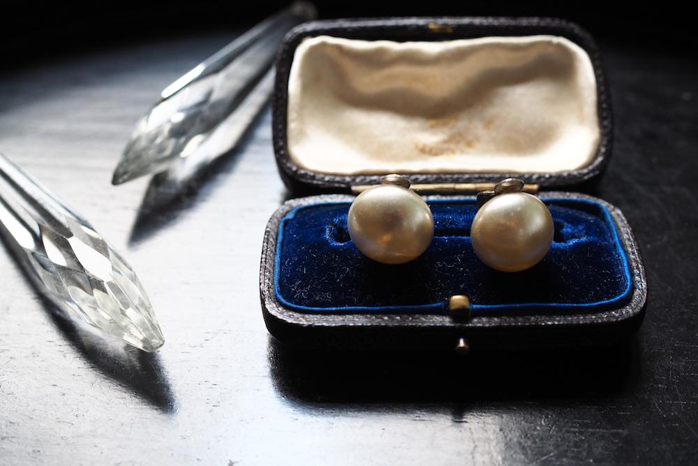Glass pearl earring<p>ガラスパールイヤリング</p>