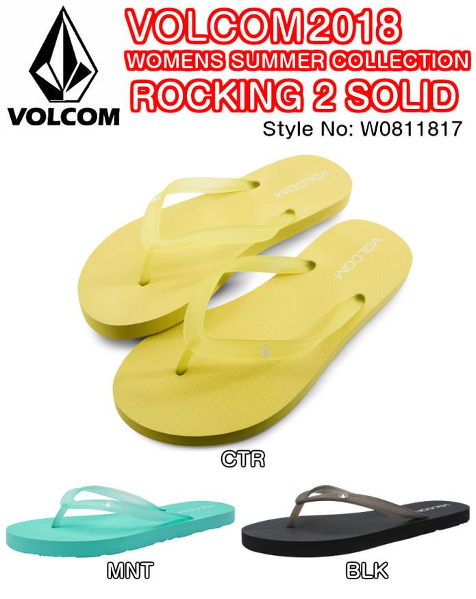 VOLCOM ボルコム ROCKING 2 SOLID W0811817 TPU素材ストラップ ロゴ TPRアウトソール ビーチ サンダル レディース 2018 SUMMERモデル 正規品