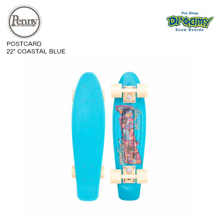 "PENNY SKATEBOARD ペニースケートボード POSTCARD 22"" COASTAL BLUE 22インチ オープンロード  ウィール59mm ベアリング Abec7 STEEL  正規品"