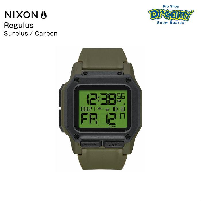 NIXON ニクソン Regulus レグルス A11803100-00 Surplus/Carbon 耐衝撃 超耐水性 デュアルタイマー サイレントモード デジタルウォッチ 腕時計 正規品