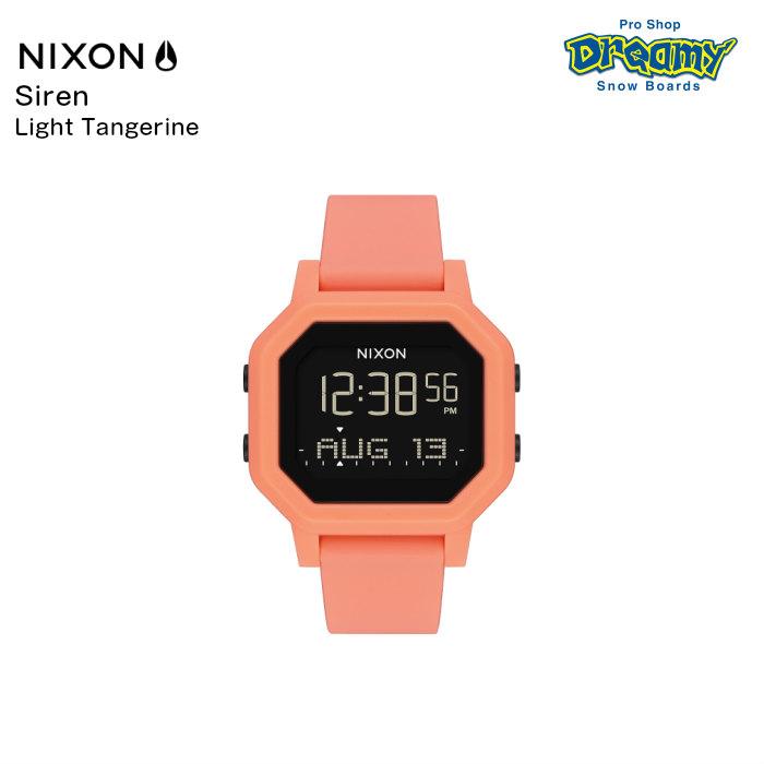 NIXON ニクソン Siren サイレン A12102876-00 Light Tangerine レディース ベースタイド機能 耐水 シリコンバンド デジタルウォッチ 腕時計 正規品
