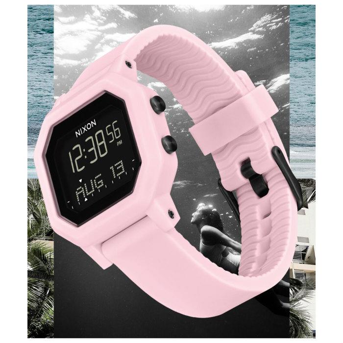 NIXON ニクソン Siren サイレン A12103154-00 Pale Pink レディース ベースタイド機能 耐水 シリコンバンド ロッキングシステム デジタルウォッチ 腕時計 正規品