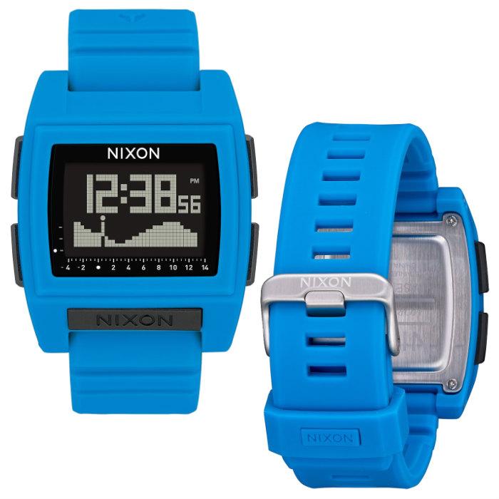 NIXON ニクソン Base Tide Pro ベース タイド プロ A1212300-00 Blue サーフウォッチ 耐水性ボタンLocking Looper アラーム デジタルウォッチ 腕時計 正規品