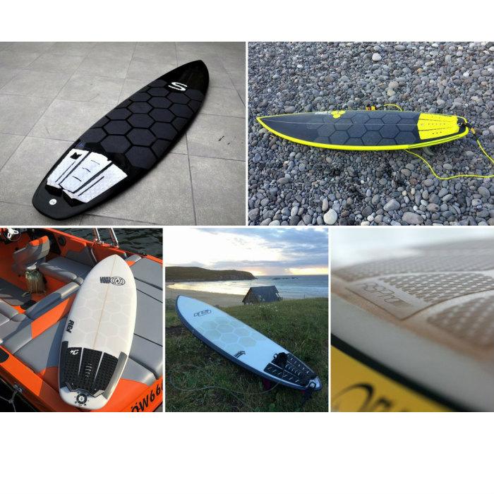 HEXA TRACTION ヘクサトラクション 16cm×14cm 1枚 デッキシート ステッカー デッキパッド サーフボード サーフィン