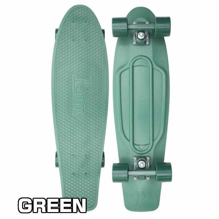 ★即納★Penny ペニースケートボード STAPLES ステープル 1NST1 新色 27インチ GREEN 特殊プラスティック ウィール59mm  Abec7 STEEL 正規品