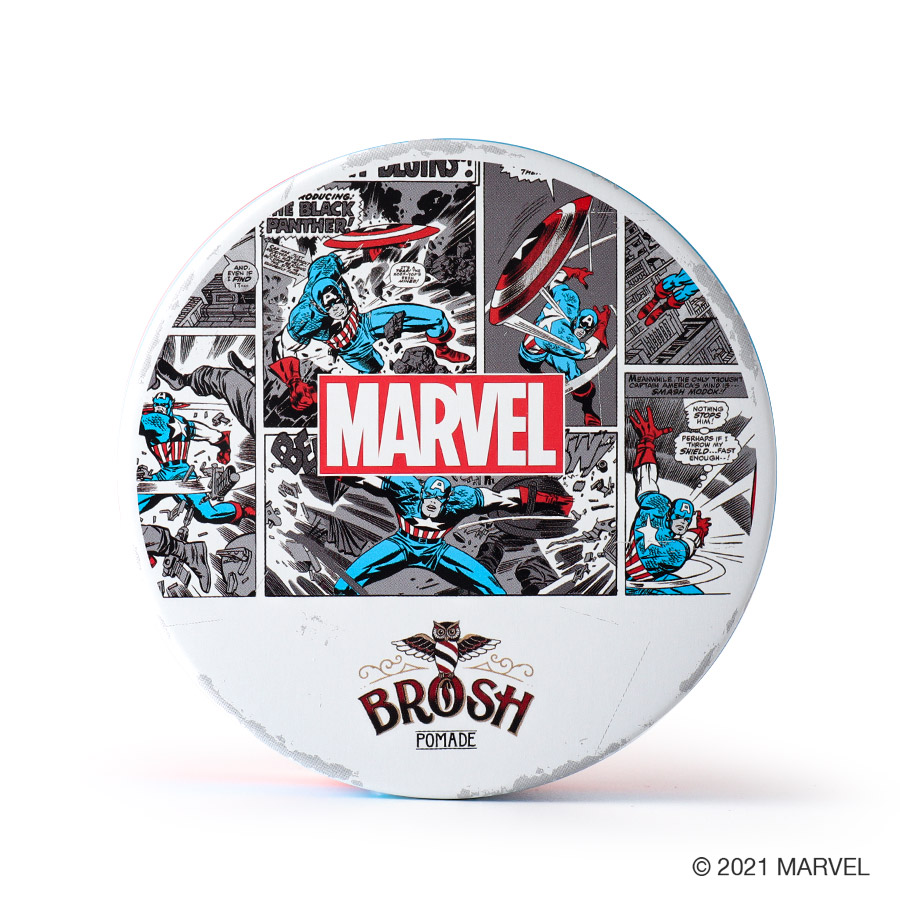 DRESSKIN別注 BROSH POMADE 【MARVEL】 キャプテン・アメリカ モデル /BROSH(ポマード)