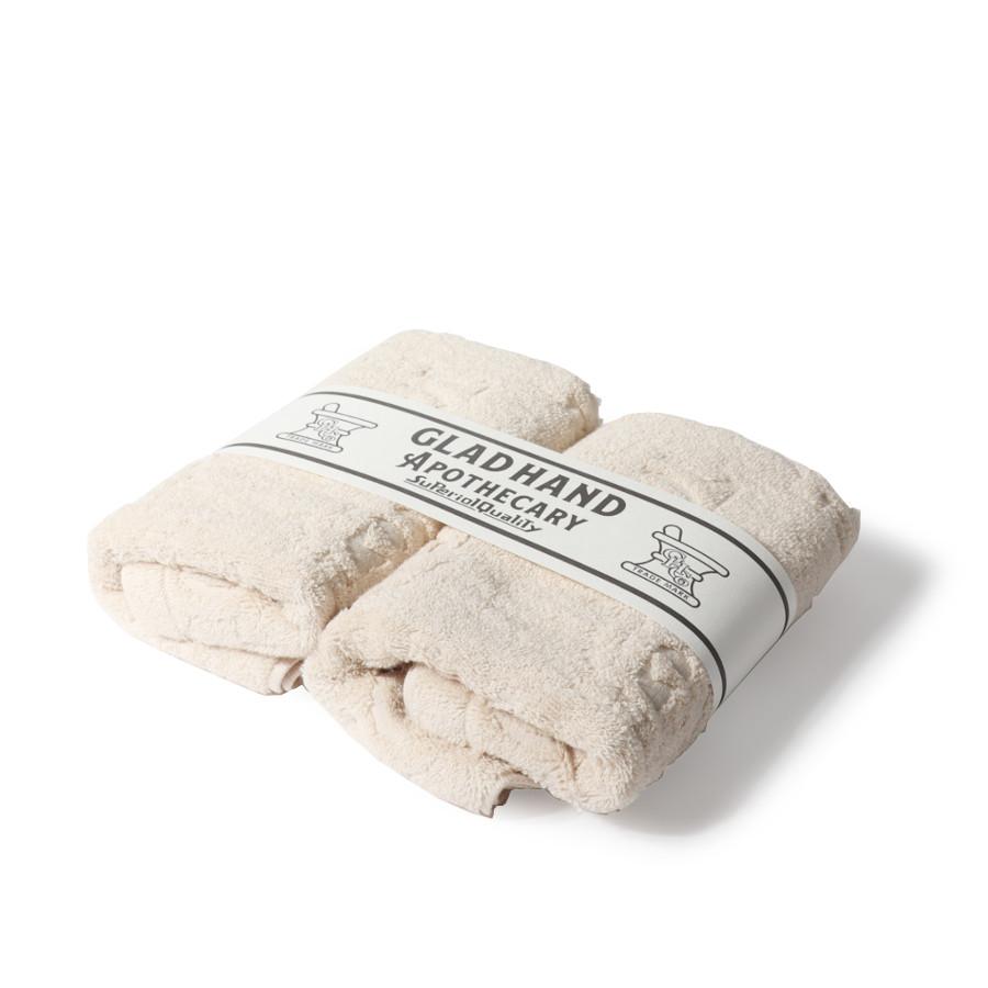 フェイスタオル ファミリークレスト Beige(2pack)/GLAD HAND APOTHECARY(フェイスタオル)