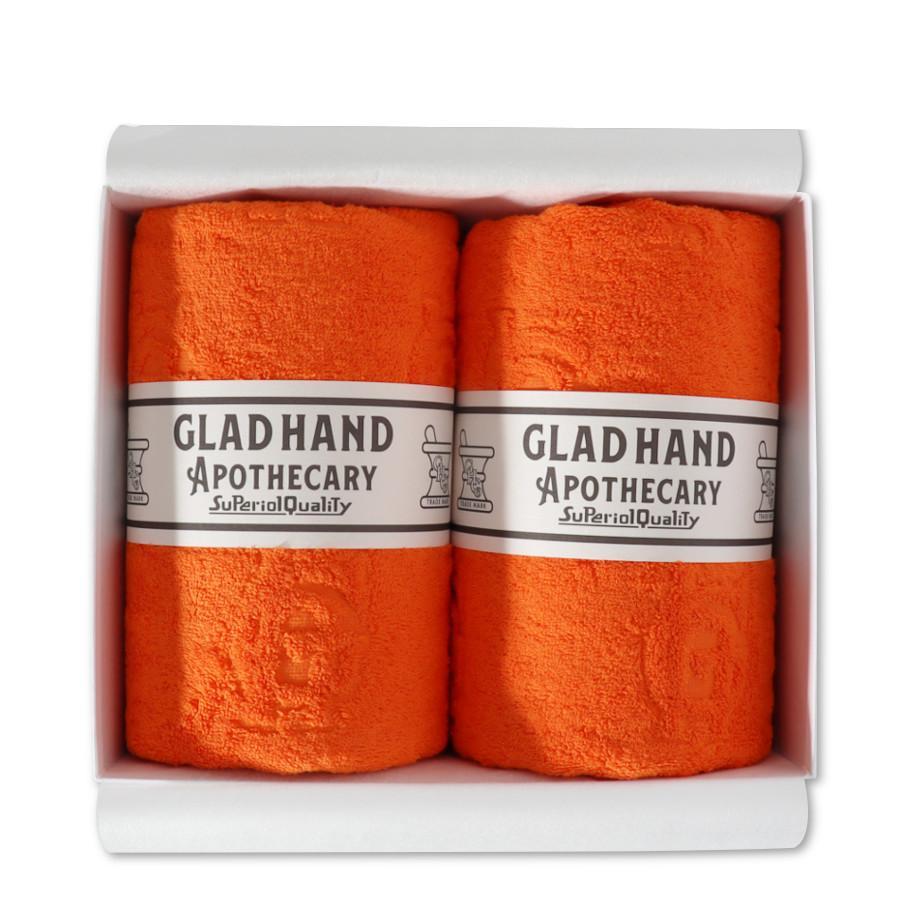バスタオル ファミリークレスト Orange(2pack)/GLAD HAND APOTHECARY(バスタオル)