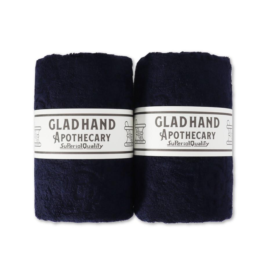 バスタオル ファミリークレスト Navy(2pack)/GLAD HAND APOTHECARY(バスタオル)