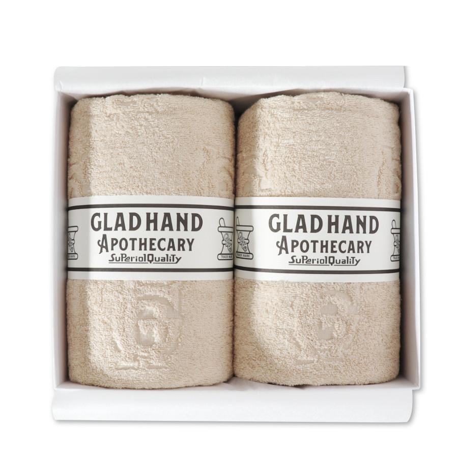 バスタオル ファミリークレスト Beige(2pack)/GLAD HAND APOTHECARY(バスタオル)