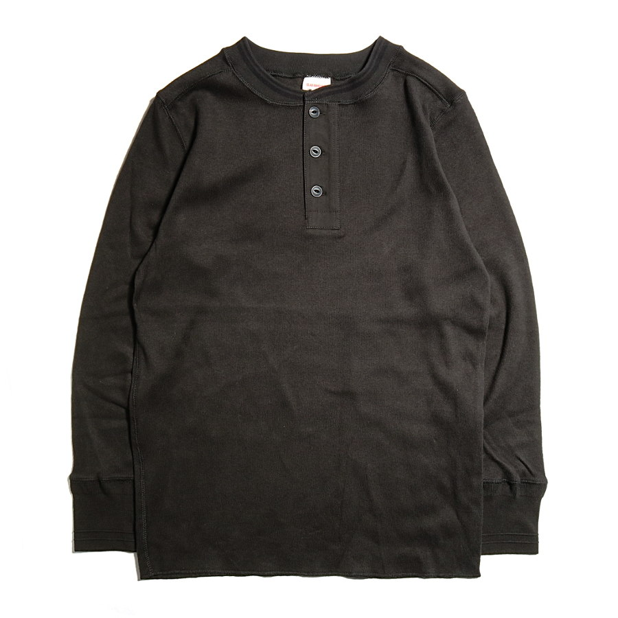 THICK HENRY L/S T-SHIRTS BK/GLAD HAND (Tシャツ)