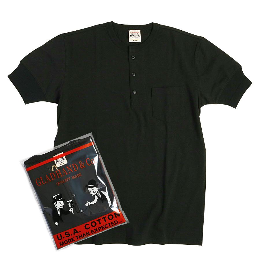 STANDARD HENRY POCKET T-SHIRTS BK/GLAD HAND (Tシャツ)