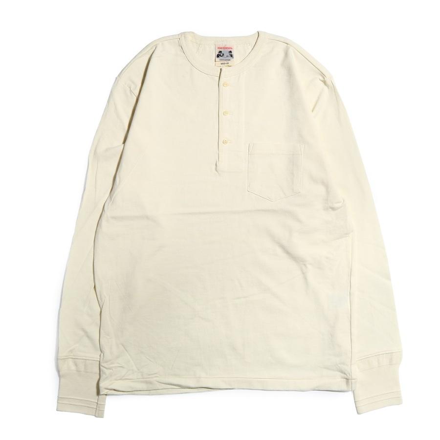 STANDARD HENRY POCKET L/S T-SHIRTS WH/GLAD HAND (Tシャツ)