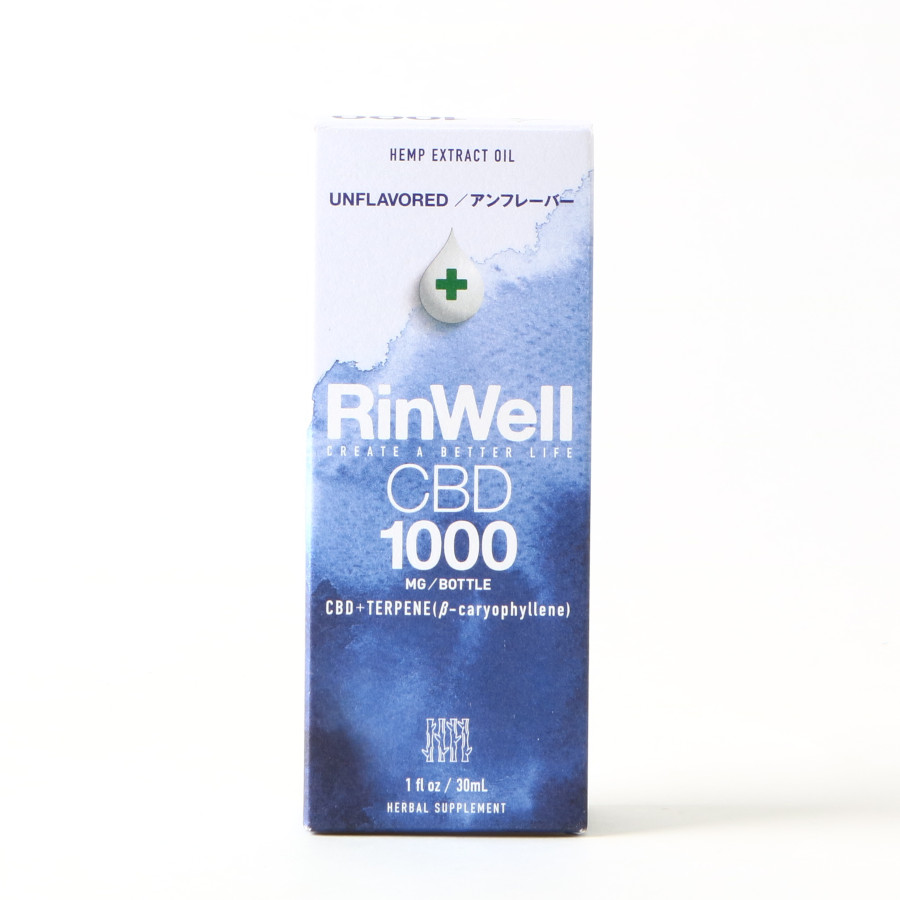 アンフレーバー CBDオイル 1000mg/RinWell(CBDオイル)
