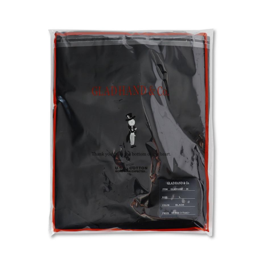 STANDARD HENRY POCKET L/S T-SHIRTS BK/GLAD HAND (Tシャツ)