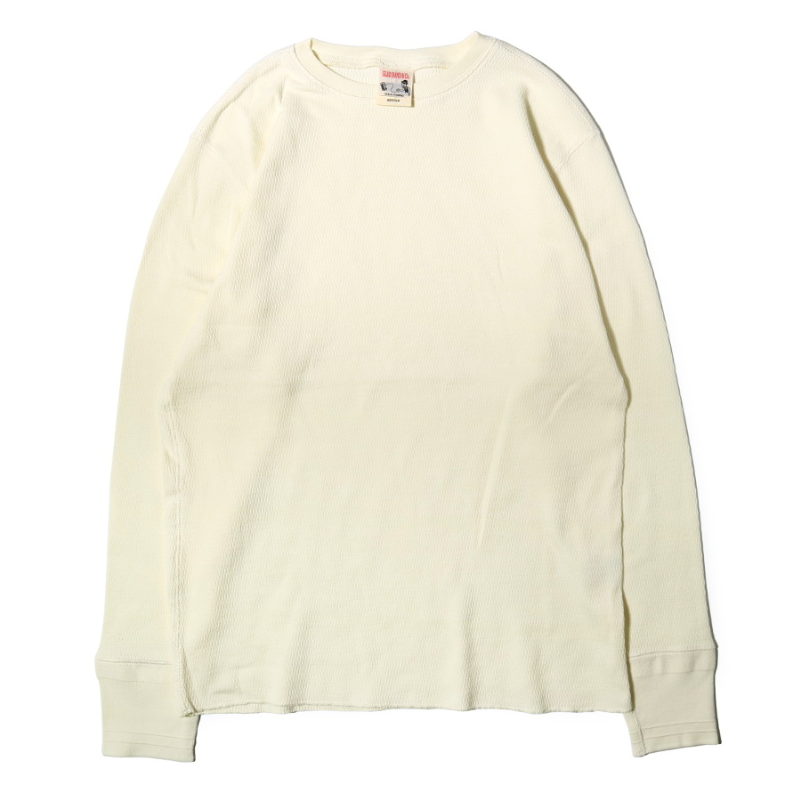 STANDARD WAFFLE L/S T-SHIRTS WH/GLAD HAND (Tシャツ)