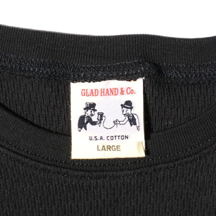 STANDARD WAFFLE L/S T-SHIRTS BK/GLAD HAND (Tシャツ)