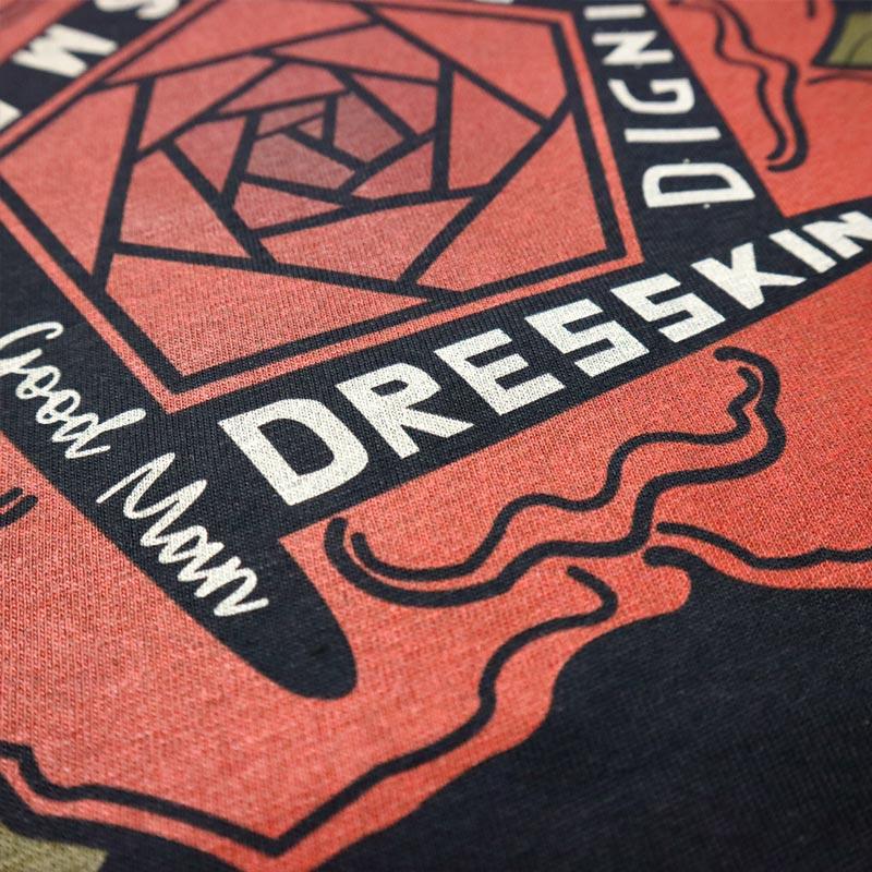 DRESSKIN BIG ROSE DRAWING TEE/DRESSKIN(Tシャツ)