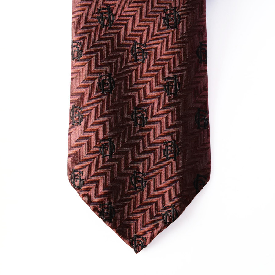 FAMILY CREST TIE BROWN/GLAD HAND (ネクタイ)