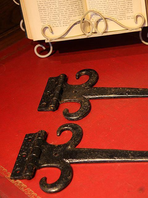アンティーク イギリスで買い付けた アイアン製 ドア ヒンジ 蝶番(ペア)