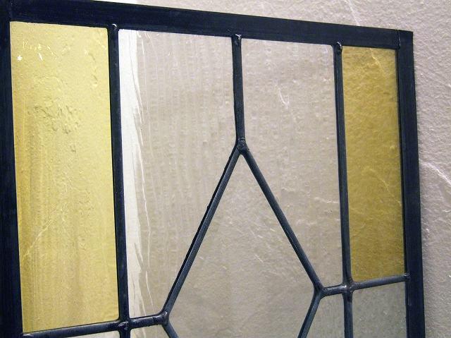 DIYや天窓・欄間にもおすすめ ステンドグラス (黄・オレンジ)【大】