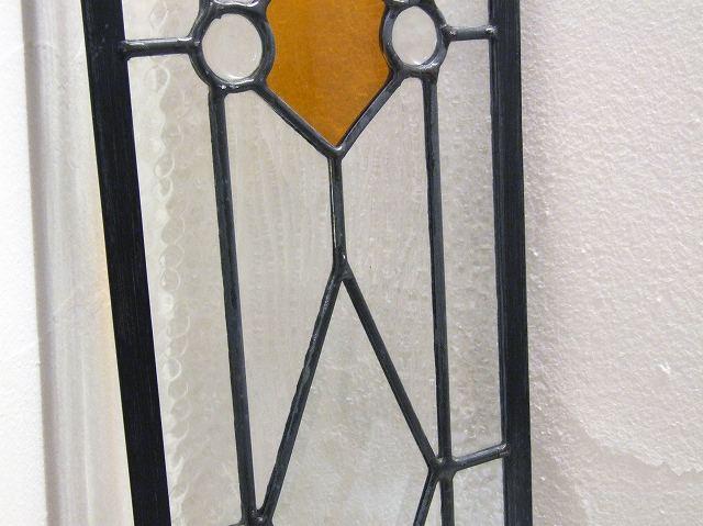まとめ買い対象 DIYや天窓・欄間にもおすすめ ステンドグラス(黄・オレンジ)【小】