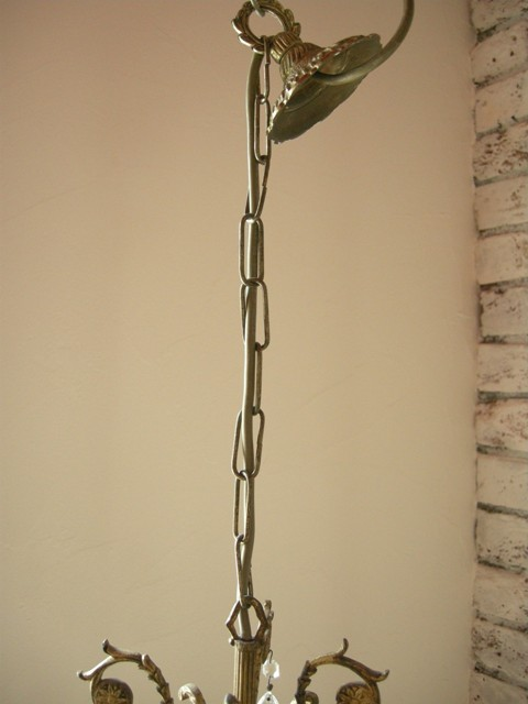 アンティーク 植物のデザインが素敵なろうそくのシャンデリア