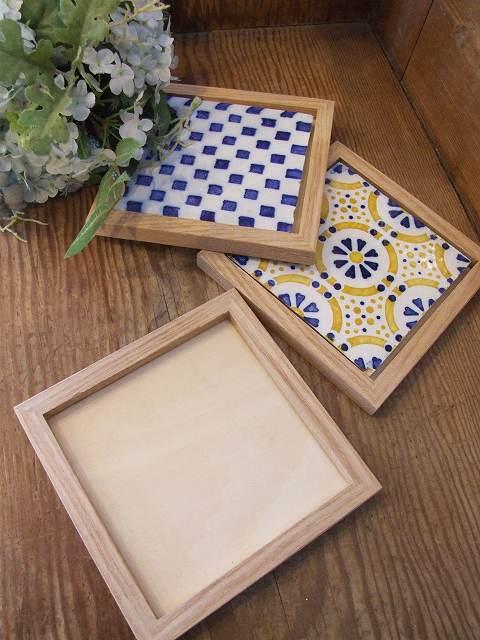 アンティーク フランスで買い付けた DIYにおすすめ 白とブルーのタイル