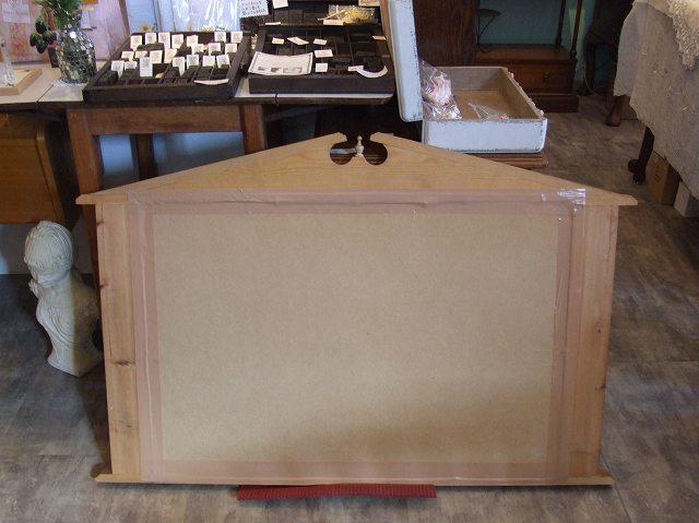 アンティーク イギリスで買い付けた パイン材のミラー