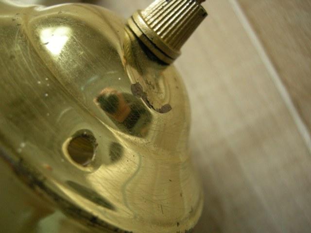 アンティークランプシェード パターンガラスのドロップ型シェード