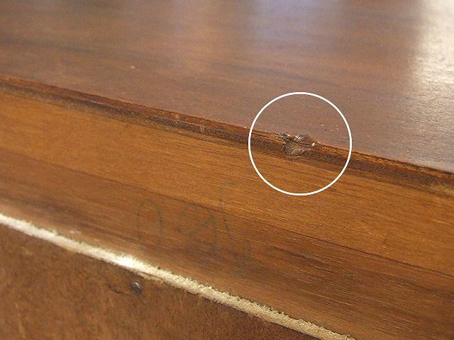 アンティーク マホガニーで作られた 小さなガラスキャビネット