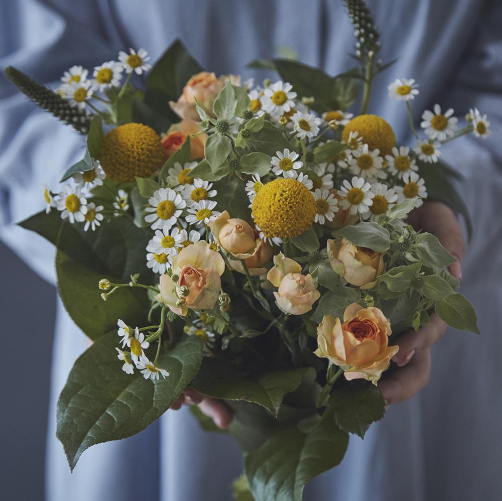 【生花ブーケ】マトリカリアブーケ フルーレット fleurette