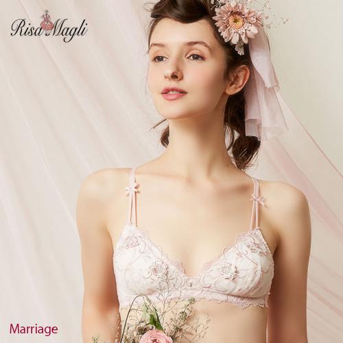 リサマリ  Marriage マリッジ 可愛いノンワイヤーブラジャー RisaMagli 52123