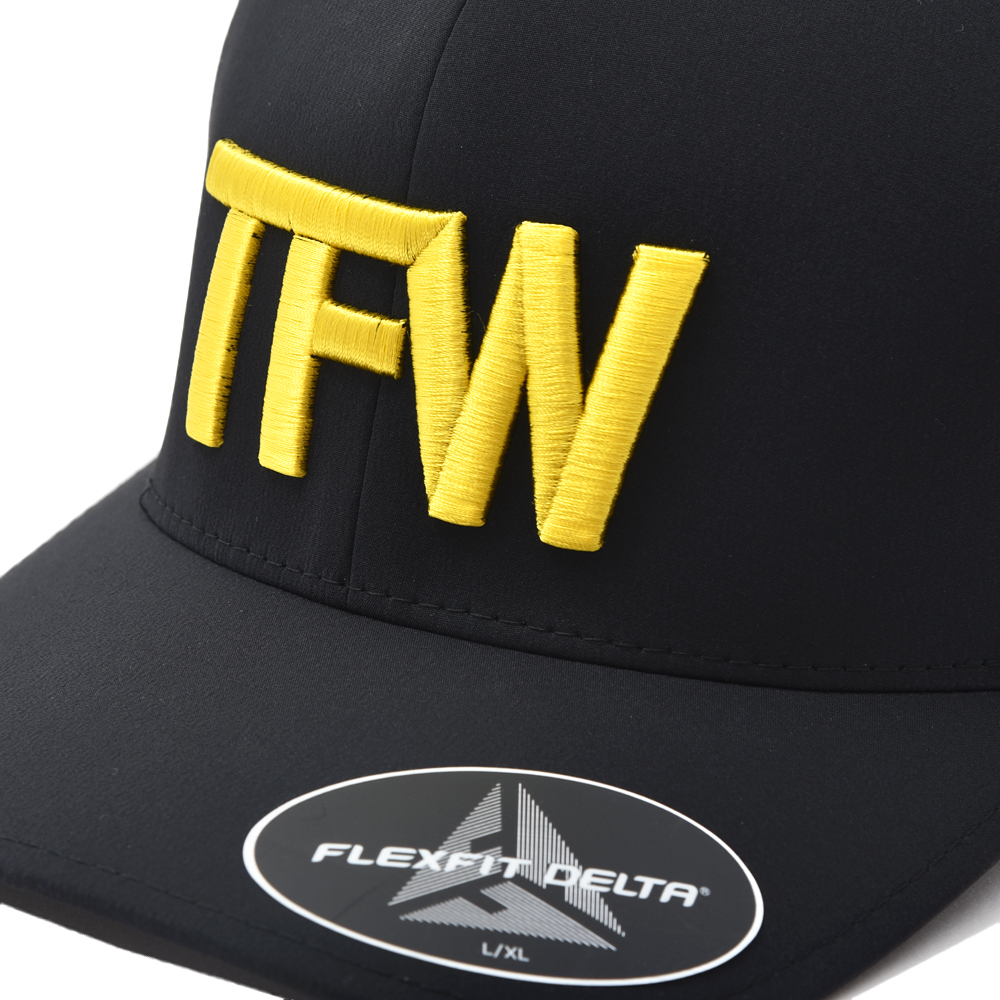 TFW49 ティーエフダブリュー49 6 PANEL CAP ゴルフキャップ BLK×YELLOW