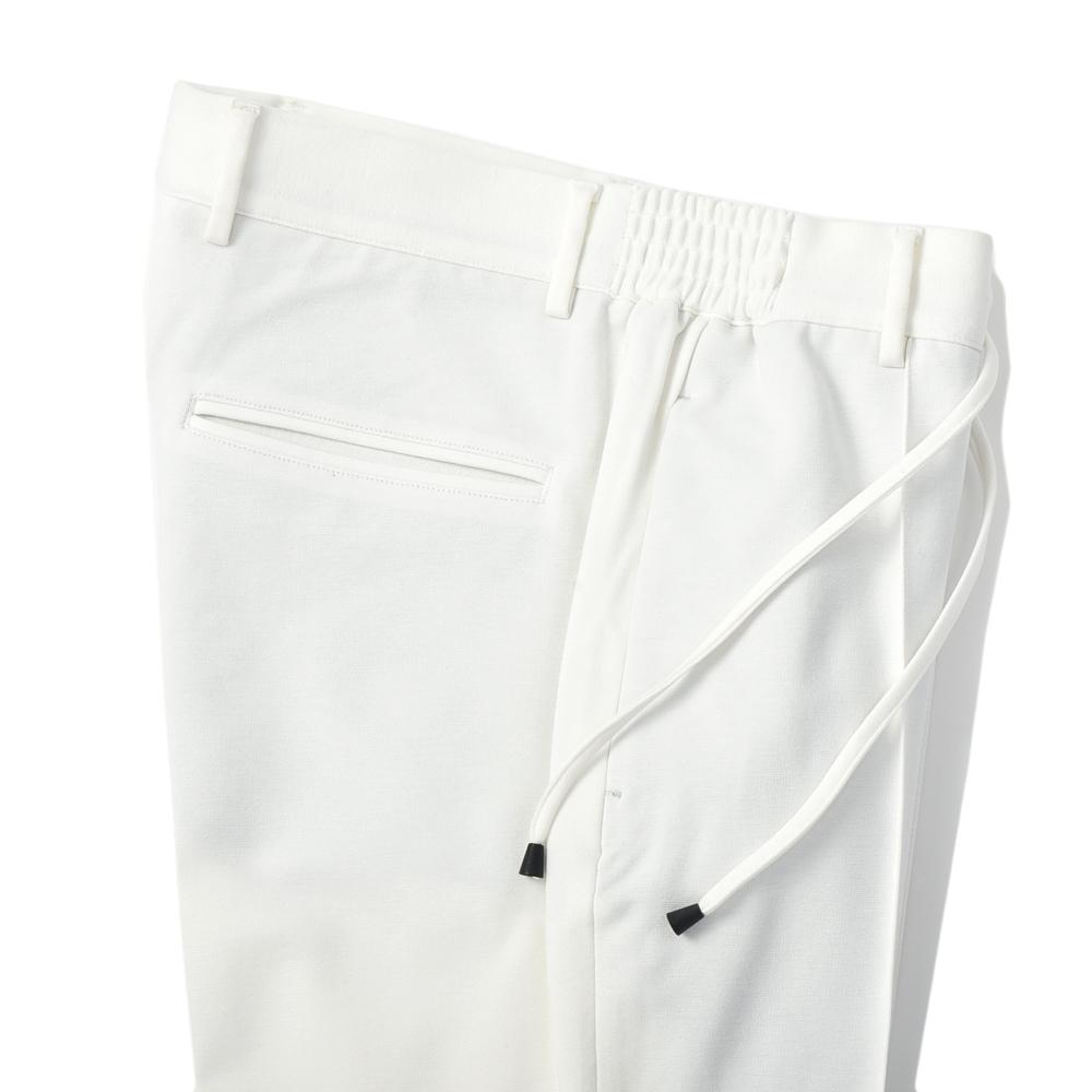 giab's ARCHIVIO ジャブスアルキヴィオ MASACCIO A5961 スタンダードサマージャージードローコードパンツ WHITE